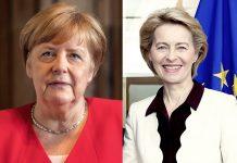 Merkel ve Leyen'den Türkiye'ye Destek
